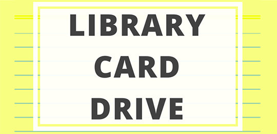 Library Card Drive