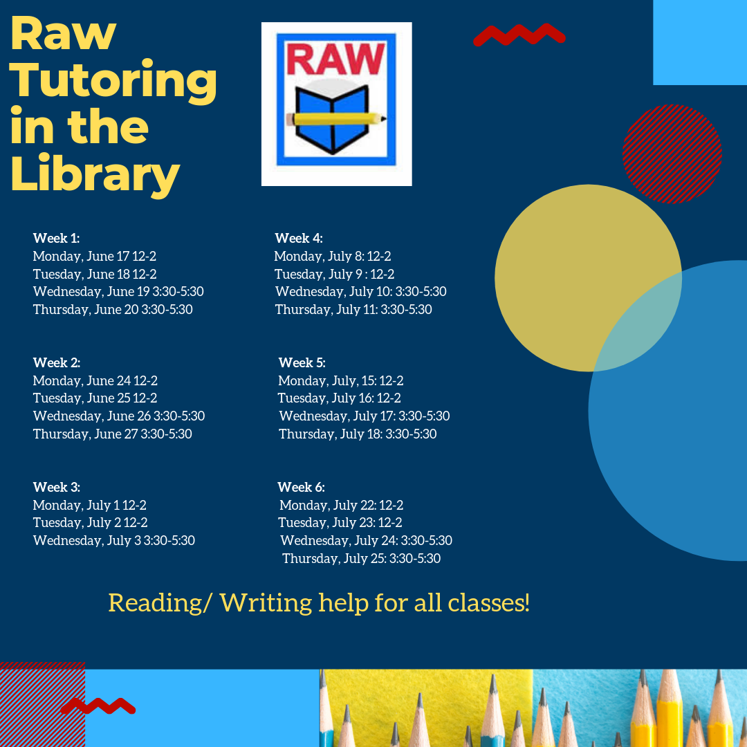 RAW Tutoring in the Library