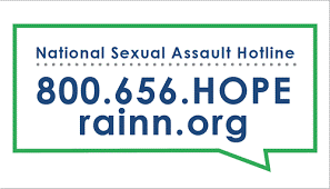 National Sexual Assault Hotline 800.656.HOPE