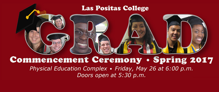 Commencement Ceremony Spring 2017. Physical Education Complex. Friday, May 26 at 6:00 p.m. Doors open at 5:30 p.m.