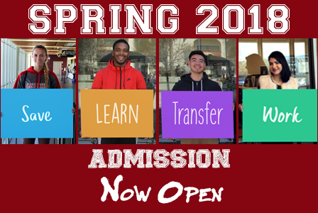 Spring 2018 admission - now open.