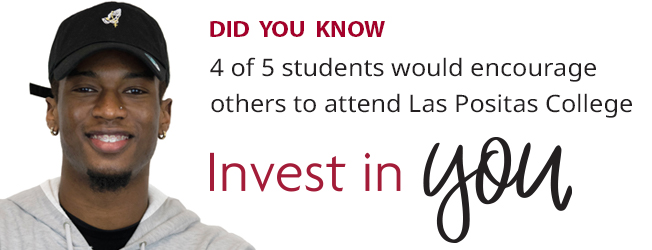 4 of 5 students would encourage others to attend Las Positas College.