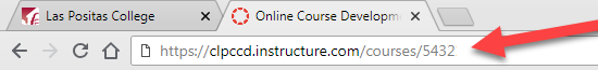 Course number in URL.